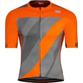 Sportful Bodyfit Pro 2.0 X Maillot de cyclisme Homme, dry green/orange sdr/red